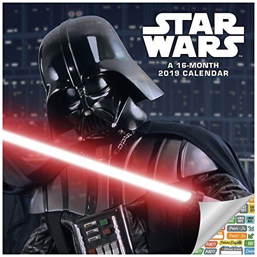 Star Wars Calendar 2019 Set - Deluxe 2019 Star Wars Wall Calendar with Over 100 Calendar Stickers (Star Wars Gifts, Office Supplies)
