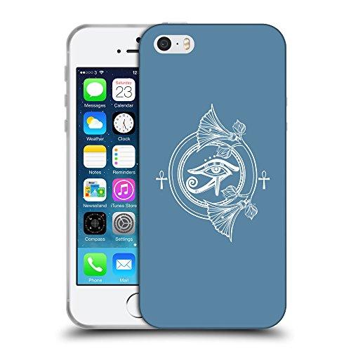 GoGoMobile Coque de Protection TPU Silicone Case pour // Q09900600 Religion 30 Aviation Bleu // Apple iPhone 5 5S 5G SE