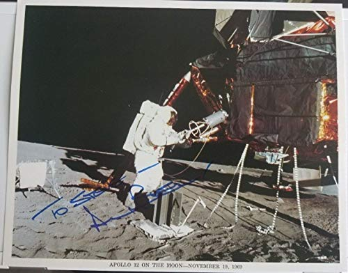 Apollo 12 NASA Astronaut Alan Bean Hand Signed 10x8 Photo Todd Mueller COA (Bean Autograph Alan)