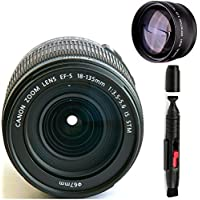 Canon 18-135mm IS STM Lens (WHITE BOX) + High Definition Telephoto Auxiliary Lens + Deluxe Lens Cleaning Pen