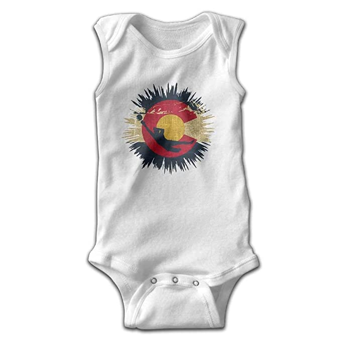 7090cef36 Image Unavailable. Image not available for. Color: AZGNHM Infant Soccer  Goalie Colorado Flag Onesies Bodysuits