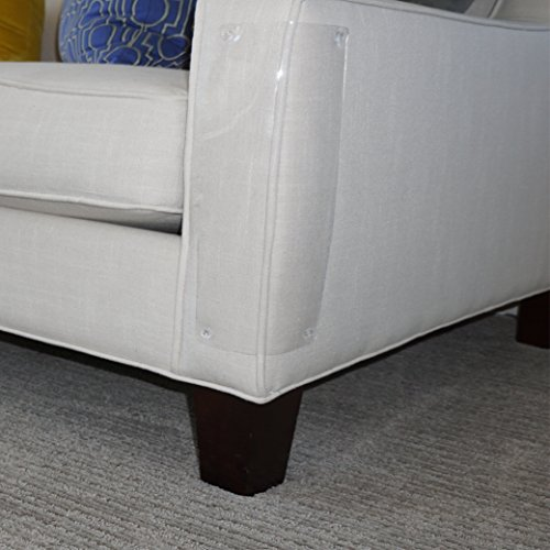 Furniture Defender is How to Love Your Pet by Protecting Your Upholstered Furniture - Stops Scratching Cats - 2 Disaster Avoiding Vinyl Guards Per Package (Corner Cat Scratch)