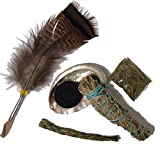 Sage Smudge Starter Kit, Includes Sweetgrass, White sage, Flat Cedar, Abalone Shell, Quick Light Charcoal Disc and a Smudging Feather