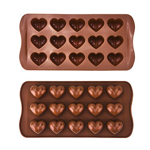 2 Pack Heart Silicone Chocolate Candy Mould Buy Online