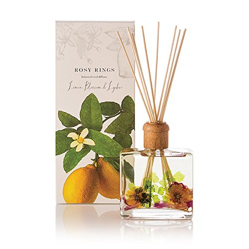 Rosy Rings Lemon Blossom & Lychee Botanical Reed Diffuser by Rosy Rings