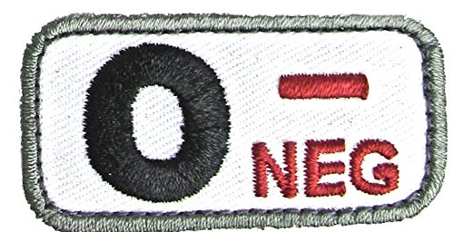 Blood Type Patches - Mil-Spec Monkey MEDICAL (O NEG)