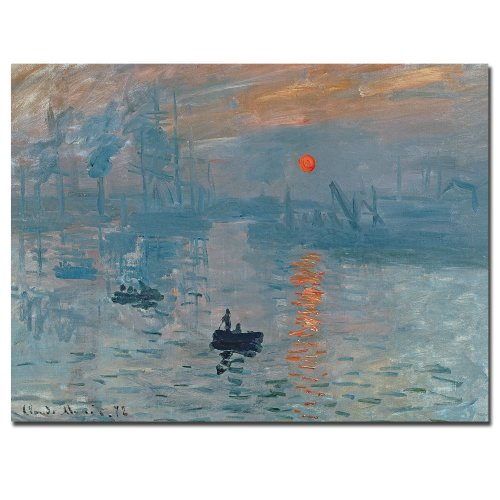 Trademark Fine Art Impression Sunrise by Claude Monet, 24x32-Inch Canvas Wall (Impression Sunrise Blue Poster)