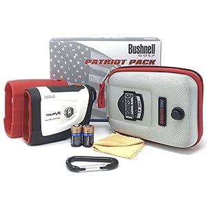 Bushnell Tour V4 Shift Laser Golf Rangefinder Bundle with Carrying Case, Carabiner, Lens Cloth, and Two (2) CR2 Batteries