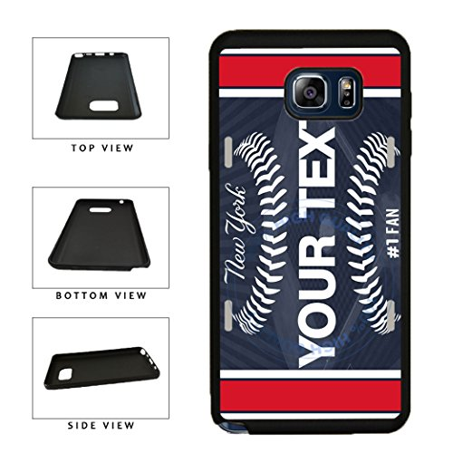 BleuReign(TM) Personalized Custom Name Baseball New York Blue License Plate TPU RUBBER SILICONE Phone Case Back Cover For Samsung Galaxy Note (New York Yankees Note)