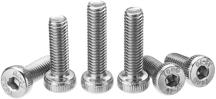 Aohi WXQ-XQ 180Pcs M5 Hex Socket Thin Head Screw Low P rofile 10-20mm Bolts Assortment Set 304 Stainless Steel