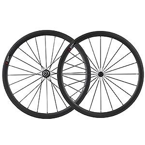 IMUST Lightweight Aero Full Carbon Fiber T700 700C 38mm Road Bike Clincher Wheelset Shimano 10/11 Speed