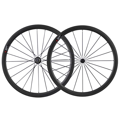 IMUST Lightweight Aero Full Carbon Fiber T700 700C 38mm Road Bike Clincher Wheelset Shimano 10/11 Speed