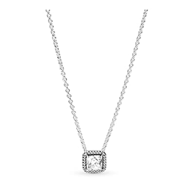 85aaa2bada945 PANDORA Timeless Elegance Necklace, Sterling Silver, Clear Cubic Zirconia,  17.8 IN