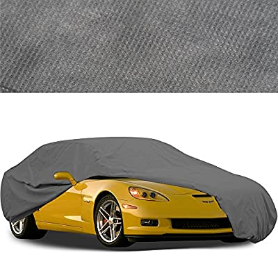 Car Cover by OxGord - In-Door 2 Layers - Ready-Fit Semi Glove Fit