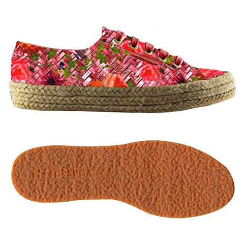 Superga Donna Sneaker Weavingrose Fabricfanplropew 2750 bordeaux rBwAxZrq