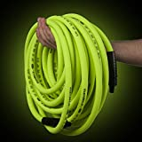 Flexzilla Air Hose with ColorConnex Industrial Type D Coupler and Plug, 1/4 in. x 25 ft, Heavy Duty, Lightweight, Hybrid, ZillaGreen - HFZ1425YW2-D
