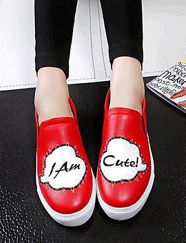 semicuero Rojo us7 negro Zq 5 Zapatos Mujer Eu38 exterior Plano 5 Cn38 Uk5 us8 Cn39 Red Casual tacón De comfort mocasines Red Gyht Uk6 Eu39 xCqHxv7
