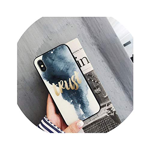 Luxury Marble Tempered Glass Phone Case for iPhone X Glass Back Cover for iPhone 7 8 Plus 6 6s XS Silicone Bumper Coque Fundas,Black White,for iPhone 7
