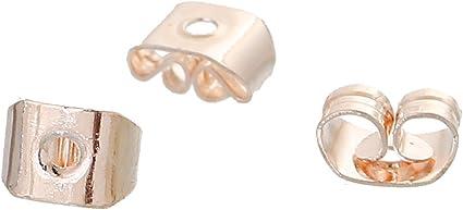 500pcs Earring Backs Stopper Findings Ear Post Nuts Jewelry Findings Gold//Silver