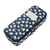 Pencil Case Twinkle Club Pen Case Zipper Bag Floral Makeup Pouch Deal (Small Image)