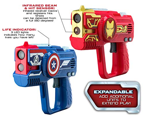eKids Avengers Endgame Laser Tag for Kids Infared Lazer Tag Blasters Lights Up & Vibrates When Hit - http://coolthings.us