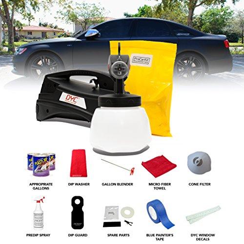 DipYourCar PRO CAR KIT - Matte Black - Sedan Size with Sprayer by DipYourCar