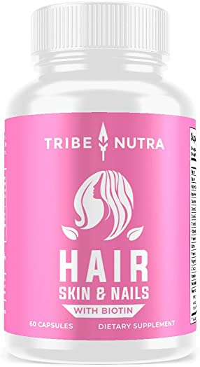 Hair Growth Vitamins for Women – Scientifically Formulated for Longer, Stronger, Silkier Hair – Packed with Biotin, Saw Palmetto, Fo-Ti Hair Loss Thinning Supplement for Women