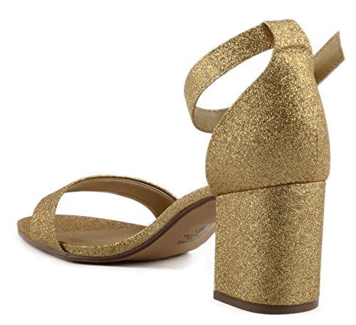 Città Classificata Disco Da Donna Con Cinturino Con Tacco Unico, Sandalo Con Cinturino Posteriore E Fibbia Regolabile Con Fibbia Dorata