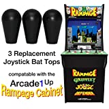 RetroArcade.us ra-js-topball-1up-kit-3 arcade1up Rampage Street Fighter Pacman Final Fight 3 Joystick bat top Handles