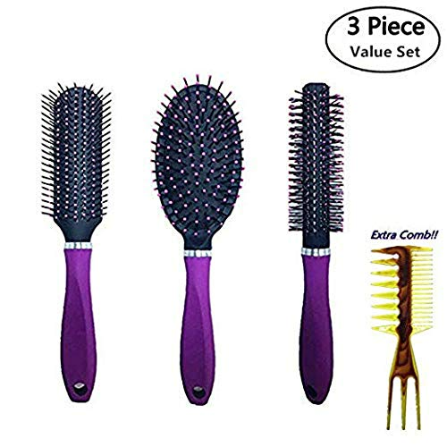 3 Pc Value Set Hair Brush