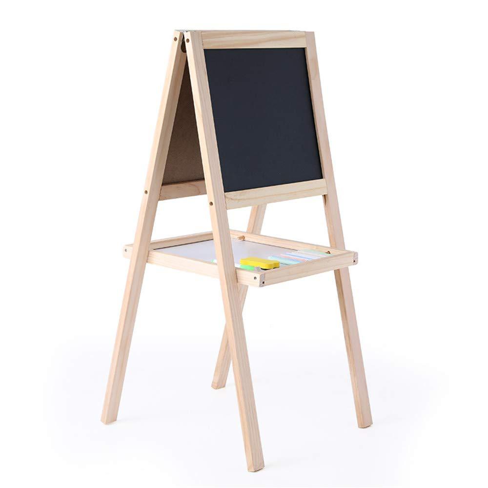 Cavalletto per bambini Cavalletto per bambini + Materiali d'arte per bambini gratuiti - Lavagna per bambini cavalletto per bambini a doppia faccia   Lavagna magnetica a secco - Cavalletto per bambini