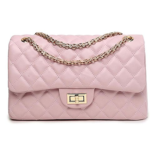 Messager Sac De à Sac Femme Pink Sac Matelassé Mode De Chaîne Bandoulière Classique fXB41q