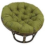 Blazing Needles Solid Outdoor Spun Polyester Papasan Cushion, 52'', Sandstone