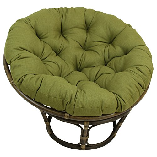 Blazing Needles Solid Outdoor Spun Polyester Papasan Cushion, 52