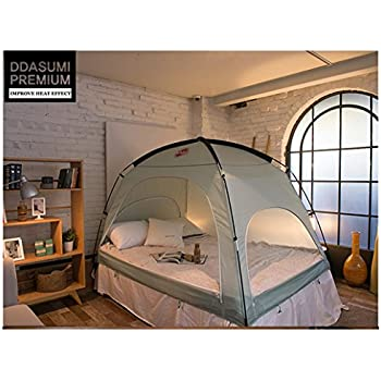 DDASUMI Warm Tent For Double Bed Without Floor (Mint) - Blocking Cold air  sc 1 st  Amazon.com : tent with bed - memphite.com
