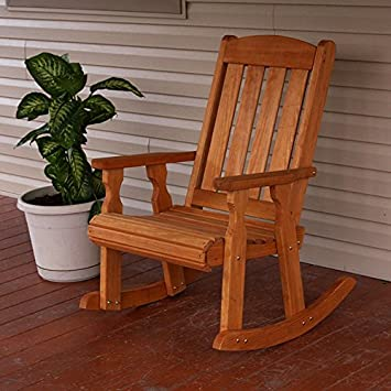 Ordinaire Amazon.com : Amish Heavy Duty 600 Lb Mission Pressure Treated Rocking Chair  (Cedar Stain) : Garden U0026 Outdoor