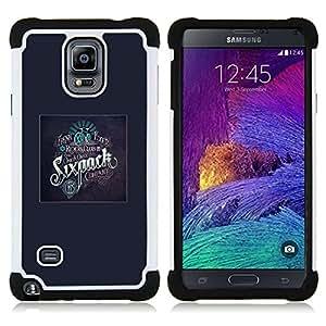 """Pulsar ( Jinetes Formación Bicycle Club Ejercicio"""" ) Samsung Galaxy Note 4 IV / SM-N910 SM-N910 híbrida Heavy Duty Impact pesado deber de protección a los choques caso Carcasa de parachoques"""