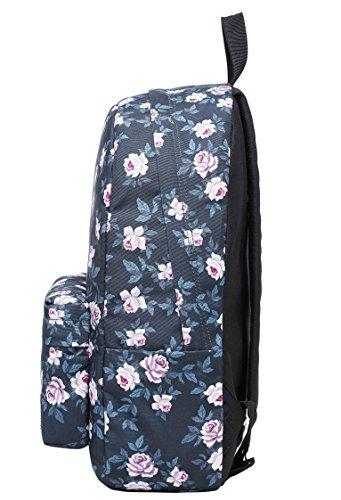 SIMPLAY Mochila Escolar Clásico | 44x30x12,5cm | Estampada de moda | Flor D203C, Rosas