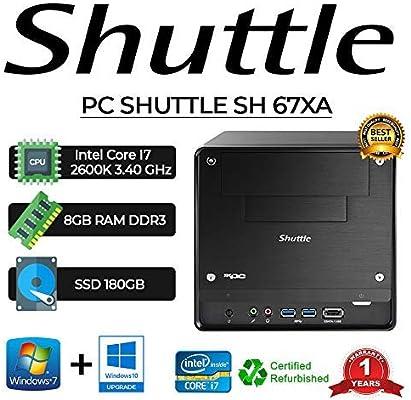 PC SHUTTLE SH 67XA Intel Core I7 2600 K/8 GB/SSD 180 GB/Win 10 Pro ...