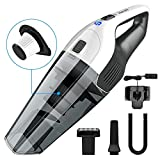 HoLife Handheld Vacuum Hand Cordless Cleaner 2200mAh Lithium Battery for Home and Car Cleaning, Light Blue