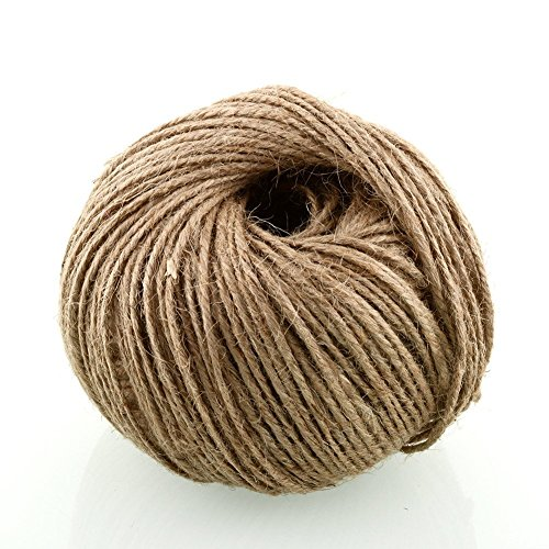 Soledi® Soft 100m Natural Jute Twine String Rope Floral Craft Wedding Gift Tags Wrap Decor Decoration Ornament