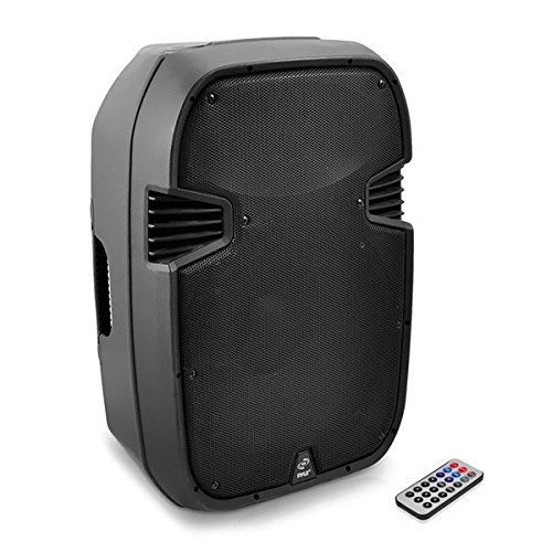 12' 2 Way Loudspeaker System - Pyle Powered PA Speaker System - Loudspeaker With 12 Inch Bass Subwoofer and built in USB for MP3 Amplifier - DJ Party Sound Equipment Stereo Amp Sub for Concert Audio or Band Music - Pyle PPHP127AI