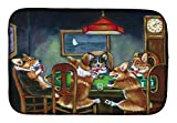 Caroline's Treasures 7416DDM Corgi Playing Poker Dish Drying Mat, 14'' x 21'', Multicolor