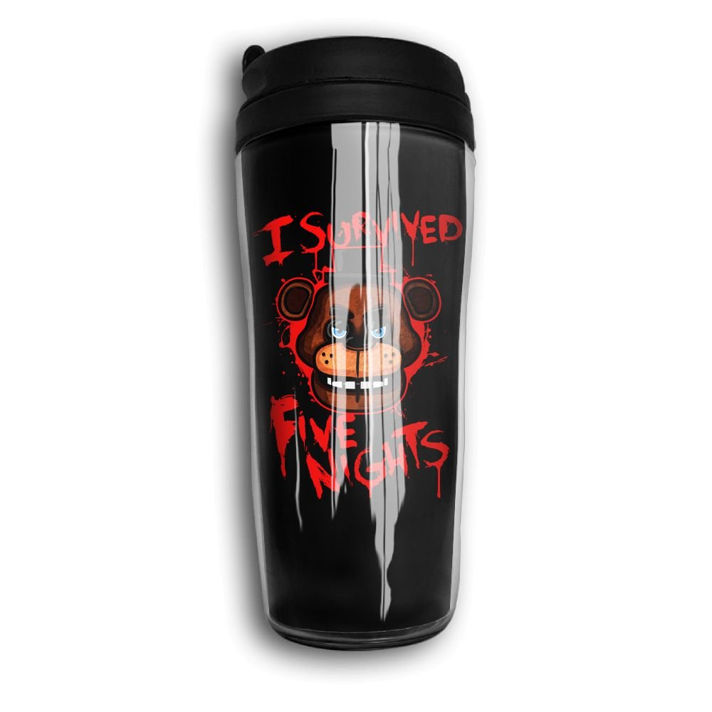 カーブトラベラーコーヒーマグカップ二重壁魔法瓶コーヒーカップ特別なデザイン、Horrible Bear B0792SQ5LD