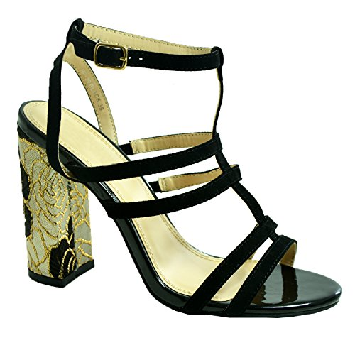 Zapatos Cucu Con Fashion Mujer Negro Tacón AZw5Sq