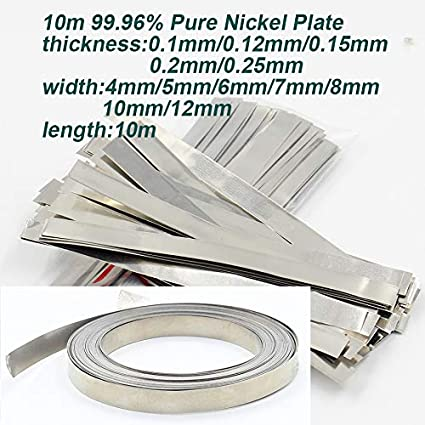 10M 99.96/% Pure Nickel Plate Strap Strip Sheets For 18650 Cell Battery Welding Nickel Plate Length 10M width 6mm thickness 0.25mm