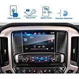 LFOTPP 2016-2018 GMC Sierra 1500 2500HD 3500HD 8 Inch IntelliLink Car Navigation Screen Protector, [9H] Tempered Glass Center Touch Screen Protector Anti Scratch High Clarity (8-Inch)