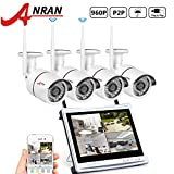 ANRAN 4CH WIFI NVR with 12″ Monitor Wireless Security Camera System with 4 Waterproof 960P Outdoor 36IR Night Vision IP Video Surveillance Camera Plug and Play No Hard Drive For Sale