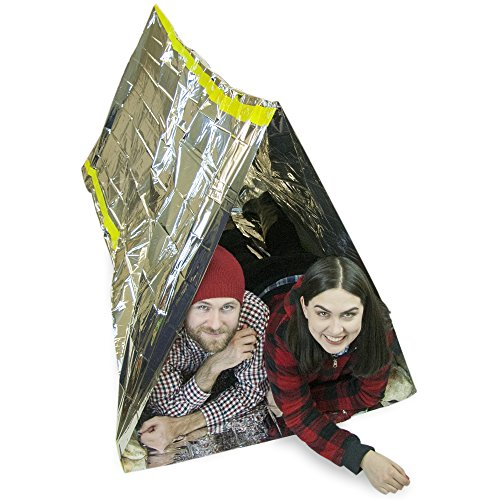 Emergency Zone Reflective 2 Person Mylar Tube Tent, Cold Weather Emergency Shelter, 1 and 3 Packs Available