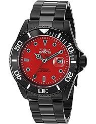 Invicta Mens Pro Diver Quartz Stainless Steel Diving Watch, Color:Black (Model: 23007)